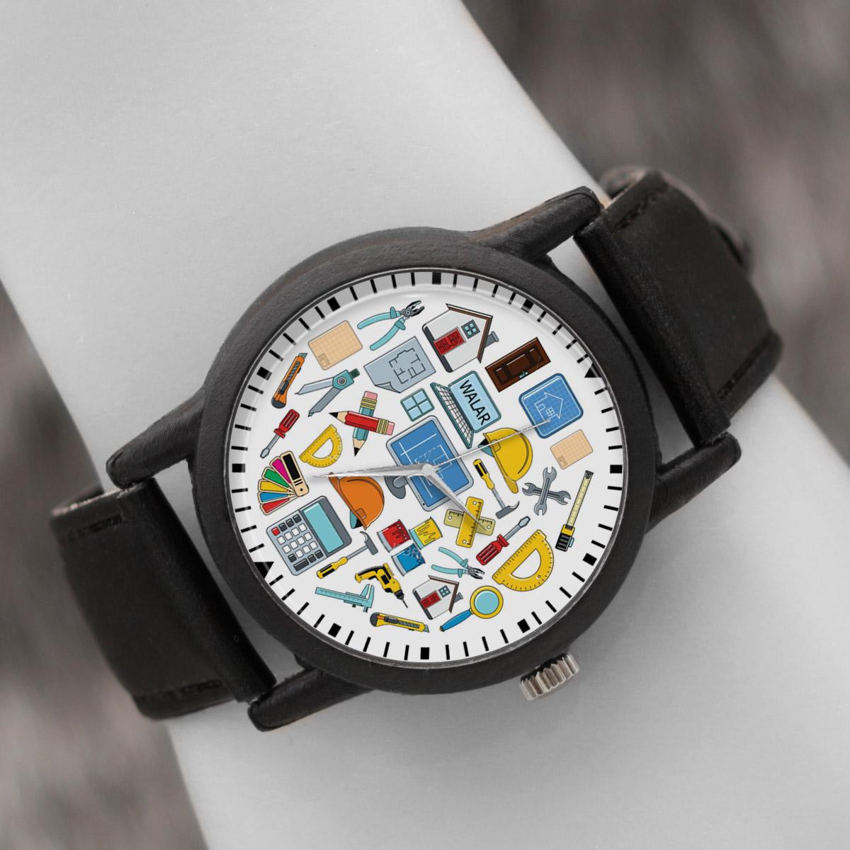 کد تخفیف                                      ساعت مچی عقربه ای والار طرح معماری کد LF2615