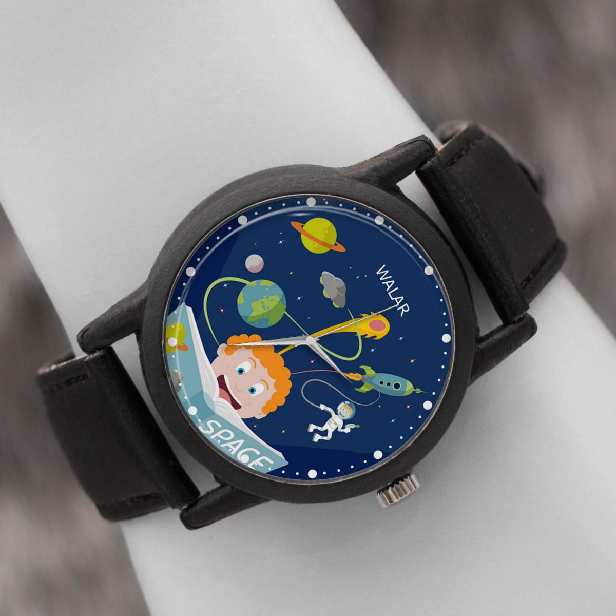 ساعت مچی عقربه ای والار طرح فضانوردی کد LF2642              ارزان