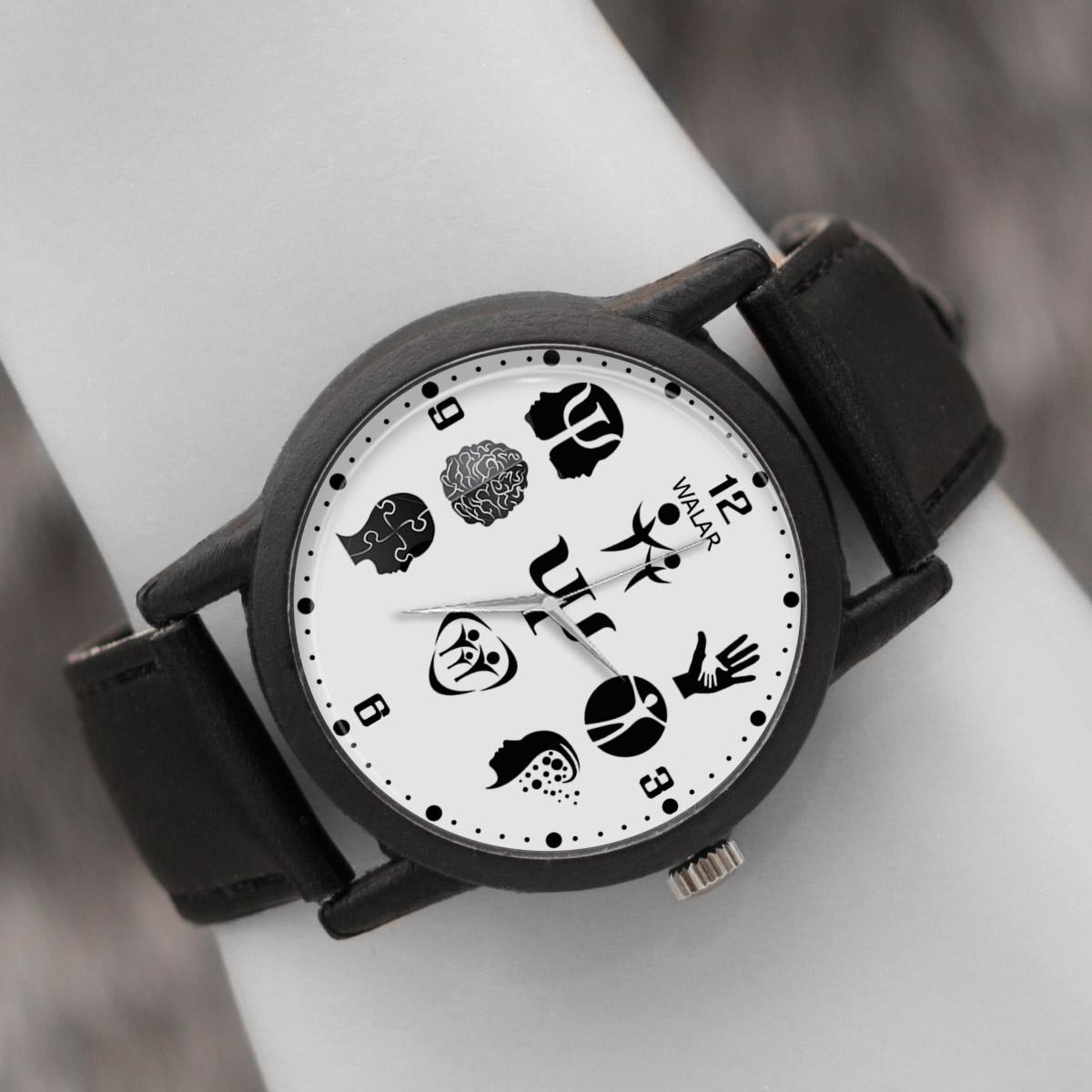 کد تخفیف                                      ساعت مچی عقربه ای والار طرح روانشناسی کد LF2652