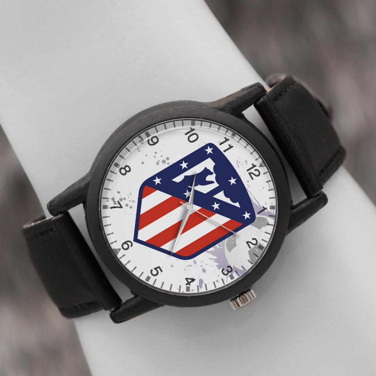 کد تخفیف                                      ساعت مچی عقربه ای والار طرح اتلتیکو مادرید کد LF2730