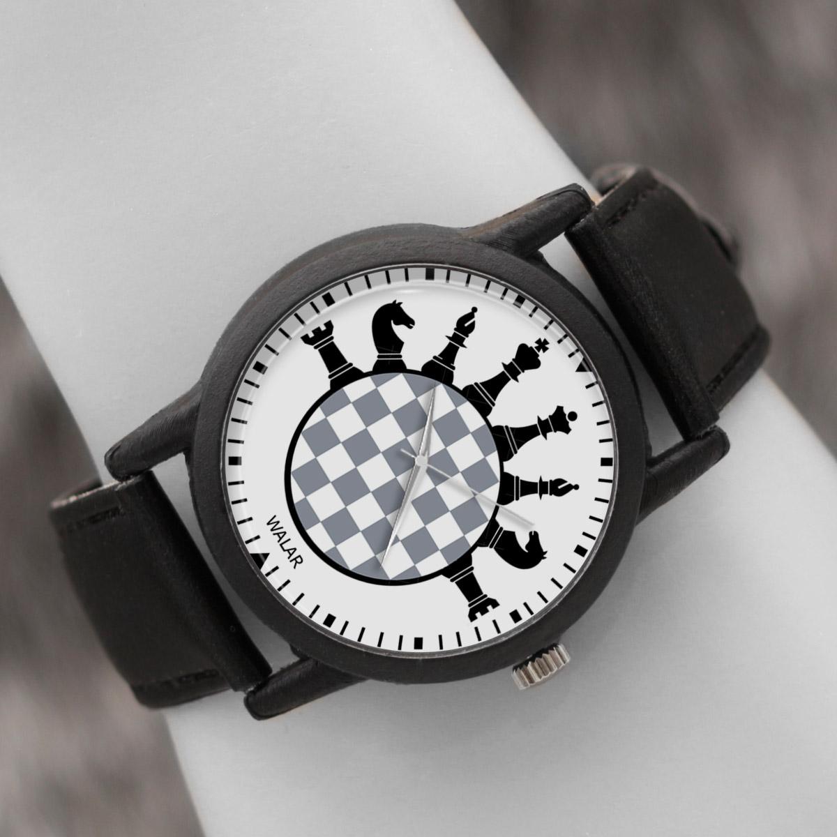 ساعت مچی عقربه ای والار طرح شطرنج کد LF2771              ارزان