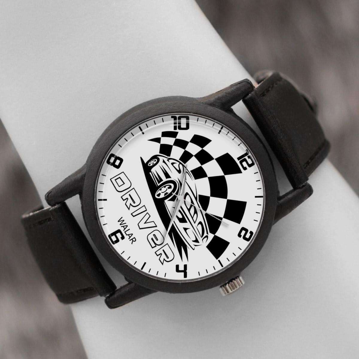 کد تخفیف                                      ساعت مچی عقربه ای والار طرح اتومبیلرانی کد LF2774