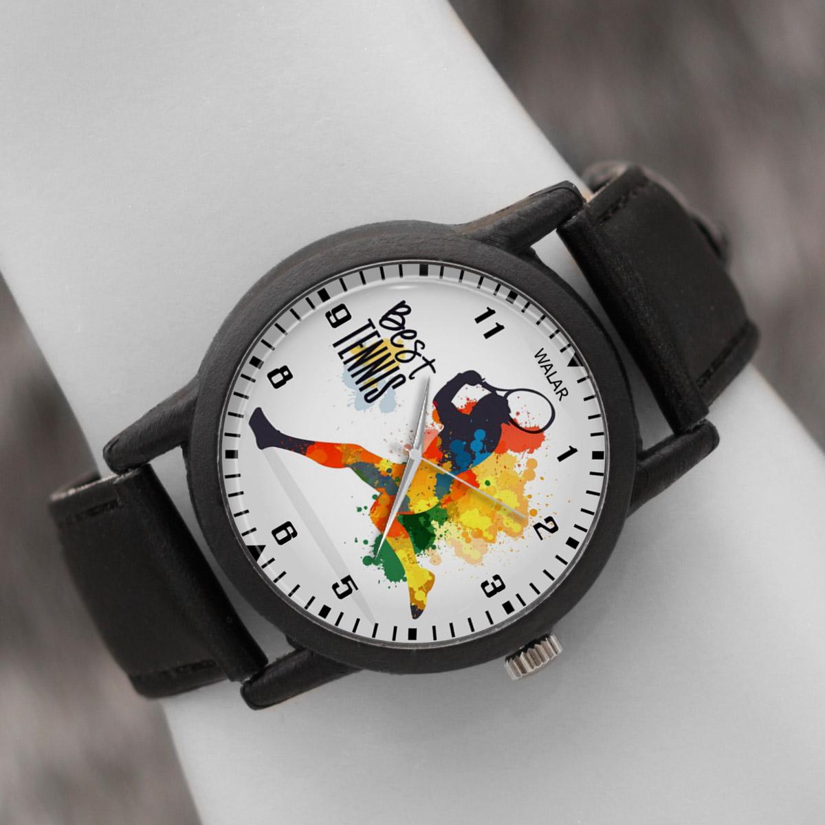 کد تخفیف                                      ساعت مچی عقربه ای والار طرح تنیس کد LF2777