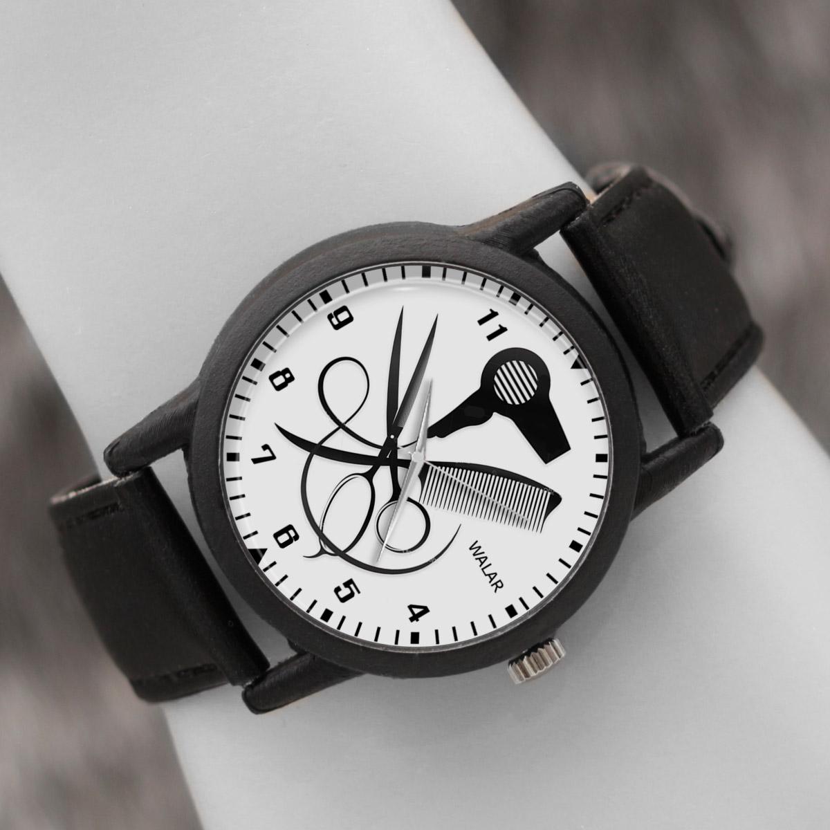 کد تخفیف                                      ساعت مچی عقربه ای والار طرح آرایشگری کد LF2791