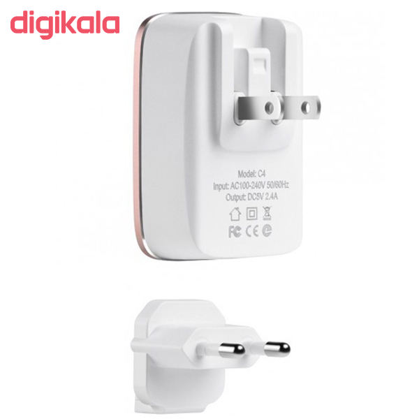 شارژر دیواری الدینیو مدل A1204Q به همراه کابل تبدیل USB-C main 1 2