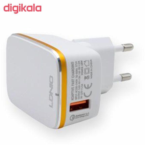 شارژر دیواری الدینیو مدل A1204Q به همراه کابل تبدیل USB-C main 1 4