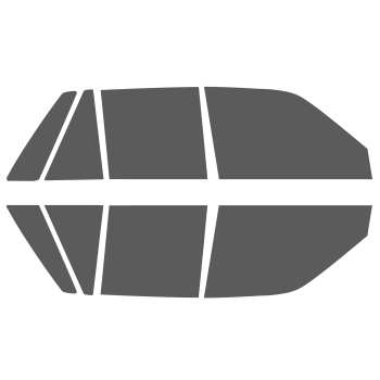 برچسب دودی شیشه خودرو مدل TAT مناسب برای پراید مجموعه 8 عددی