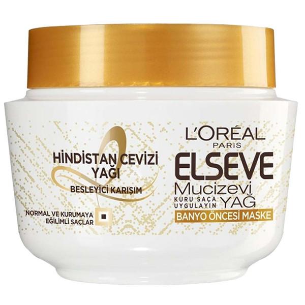 ماسک مو لورآل سری Elseve مدل Mucizevi Yag حجم 300 میلی لیتر