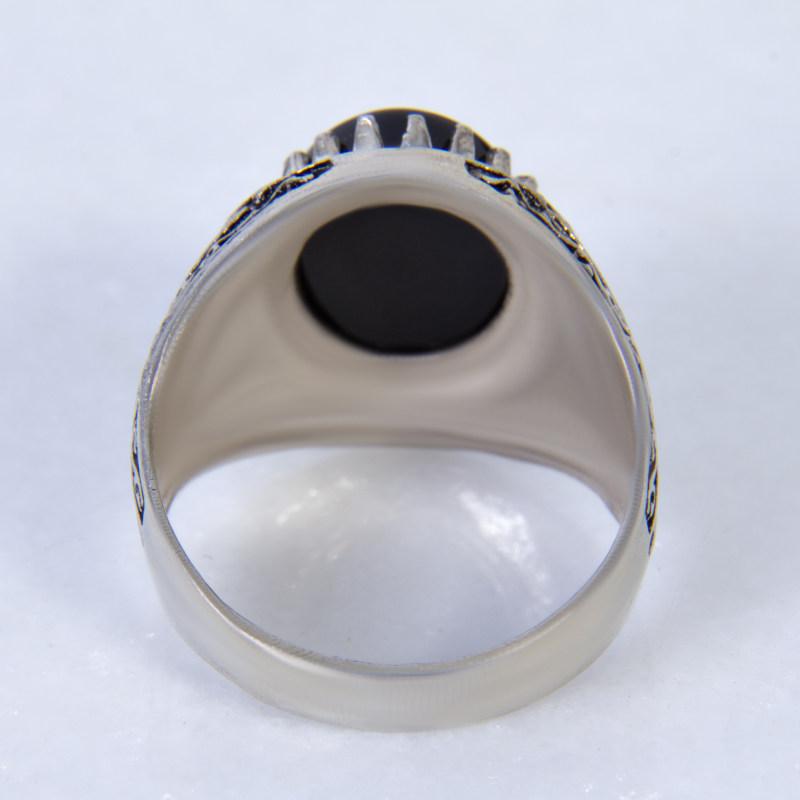 انگشتر نقره مردانه بازرگانی میلادی کد  AM_011