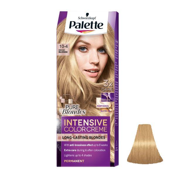 کیت رنگ مو پلت سری Intensive شماره 4-10 حجم 50 میلی لیتر رنگ بلوند بژ