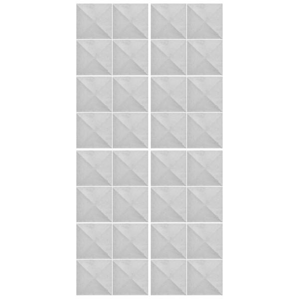 دیوارپوش تندیس و پیکره شهریار مدل آمای کد W1010-12 بسته 32 عددی