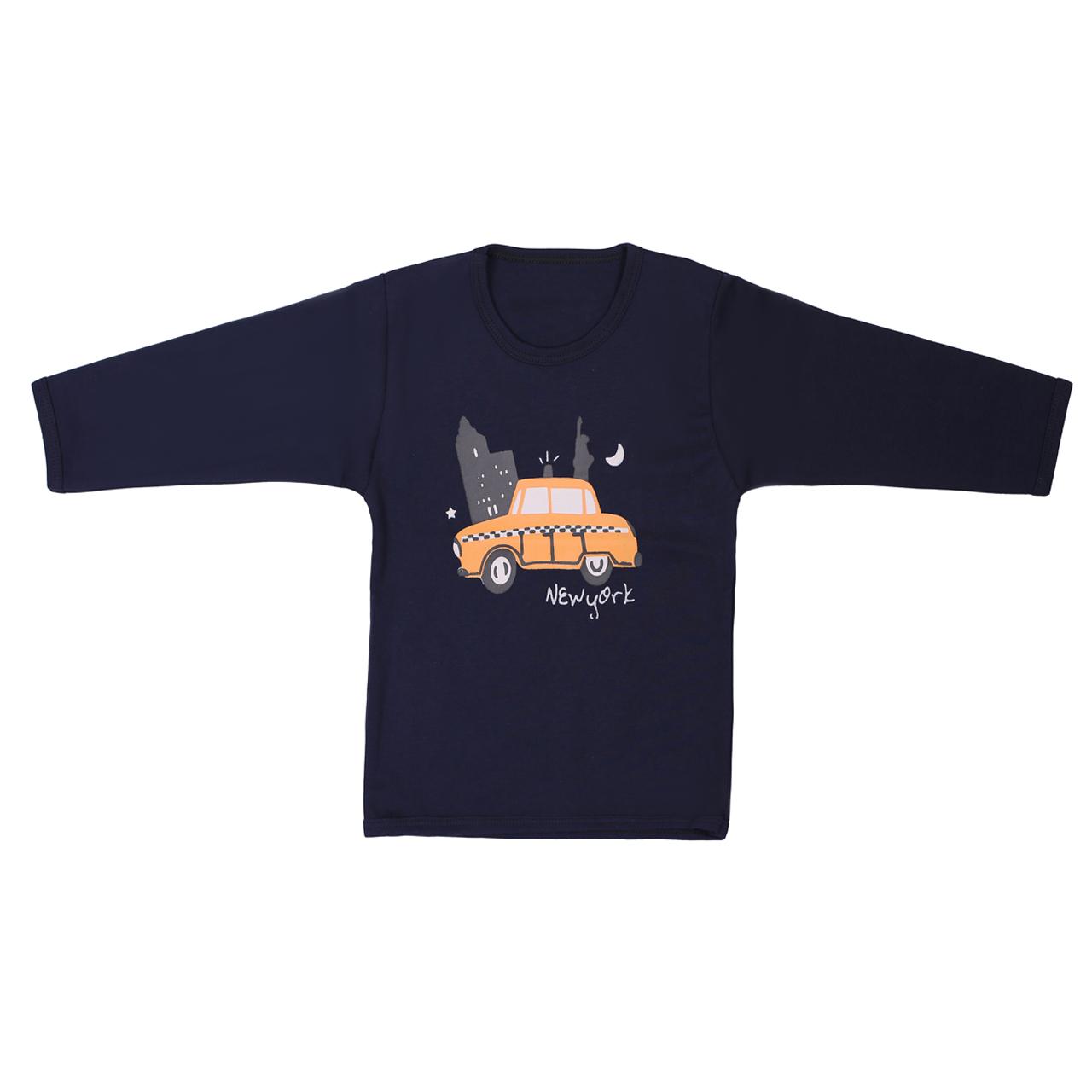 تی شرت آستین بلند پسرانه طرح تاکسی مدل T-24