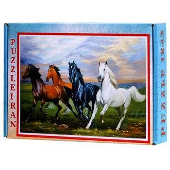 پازل 500 تکه ایران پازل طرح اسب های زیبا