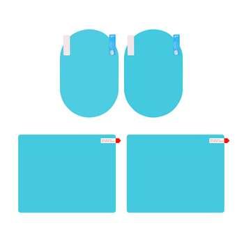 برچسب و محافظ ضد آب شیشه و آینه خودرو مدل SWR2 مجموعه 4 عددی