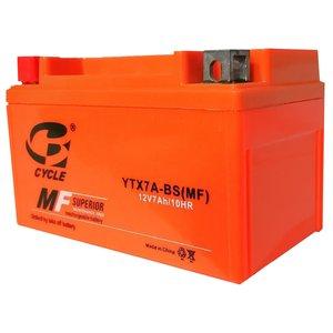 باتری موتور سیکلت سایکل مدل YTX7A-BS-MF