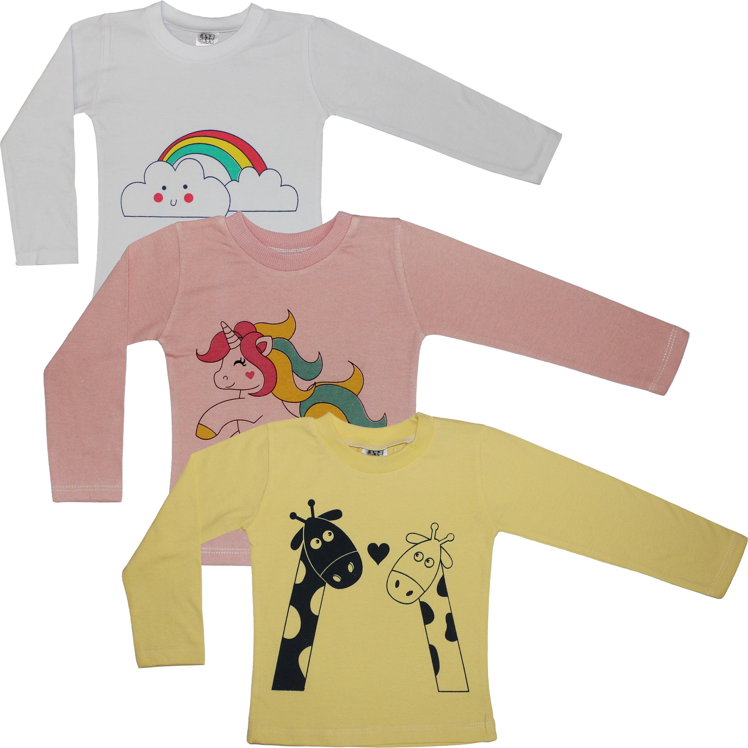 تی شرت آستین بلند نوزاد کد 02 مجموعه سه عددی