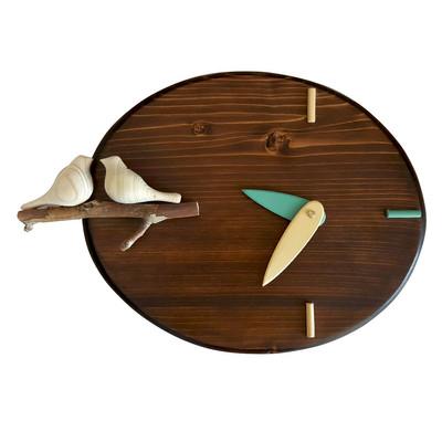 Photo of ساعت دیواری مدل مرغ عشق کد 420