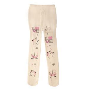 جوراب شلواری دخترانه مدل 00310 رنگ شیری