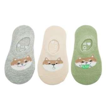 جوراب نوزاد ان بی دی مدل روباه مجموعه 3 عددی
