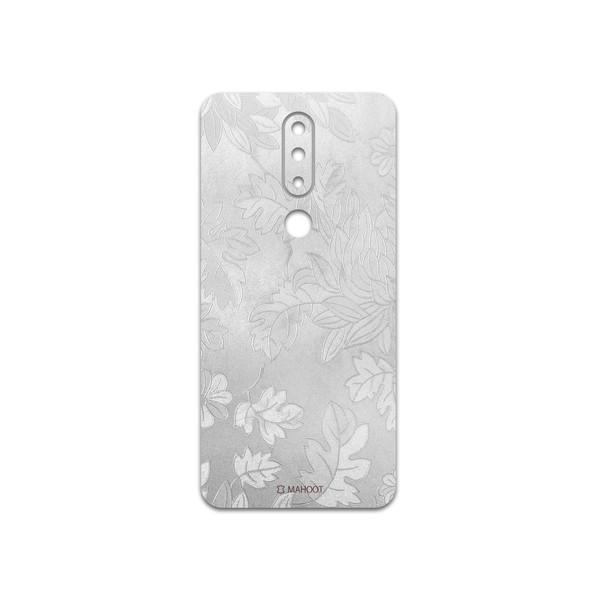برچسب پوششی ماهوت مدل Silver-Wildflower مناسب برای گوشی موبایل نوکیا 5.1 Plus