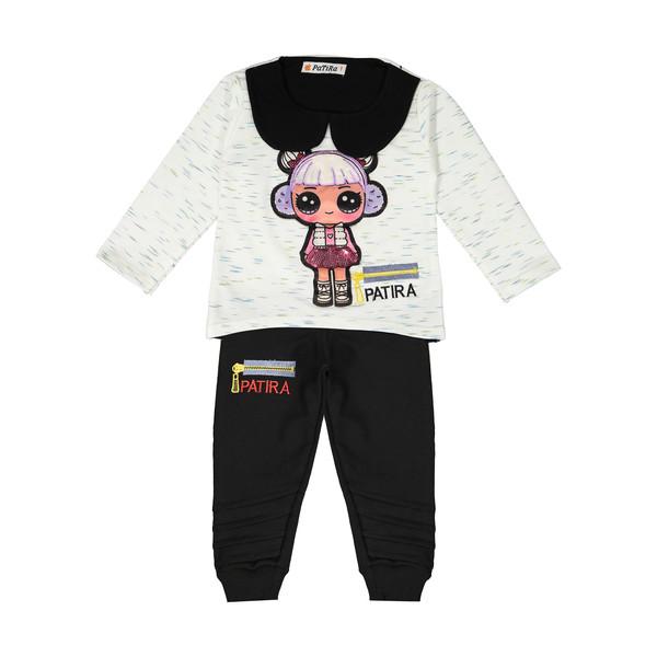 ست تی شرت و شلوار دخترانه مدل آلفا کد 544 - aaakk