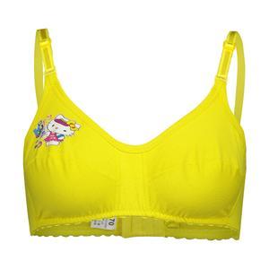 سوتین دخترانه مدل پریا رنگ زرد