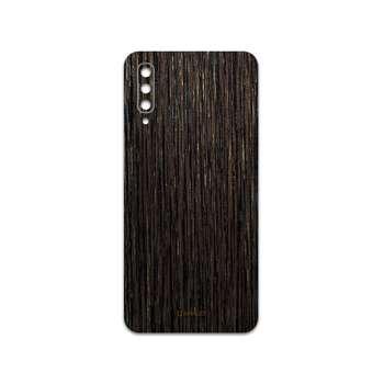 برچسب پوششی ماهوت مدل Dark-Gold-Stripes-Wood مناسب برای گوشی موبایل سامسونگ Galaxy A50