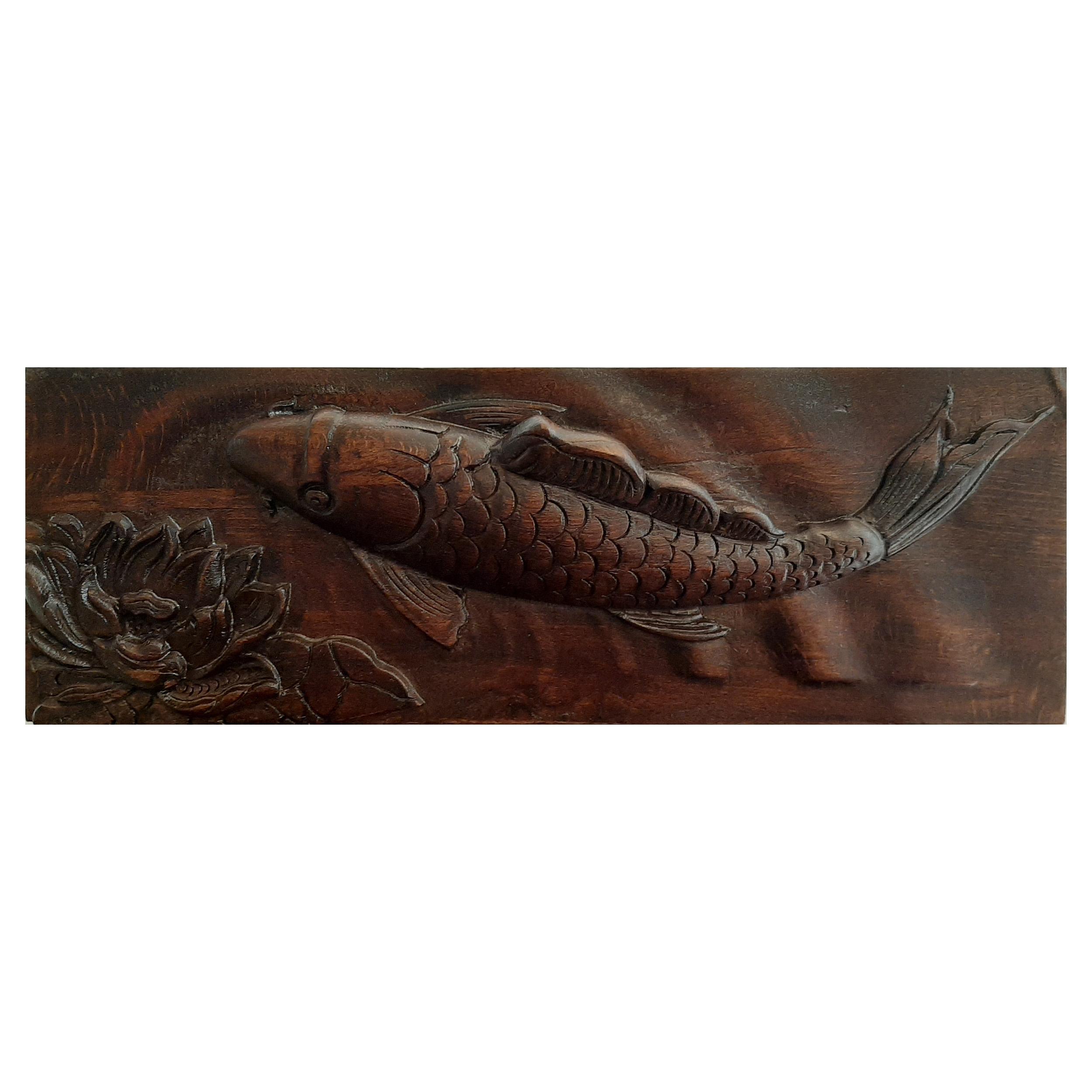 تابلو منبت کاری طرح ماهی مدل WCT002