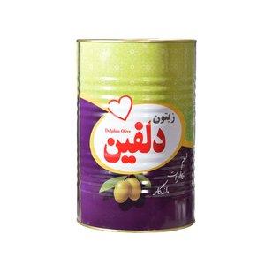 زیتون پرورده ممتاز با طعم ترش دلفین - 4 کیلوگرم
