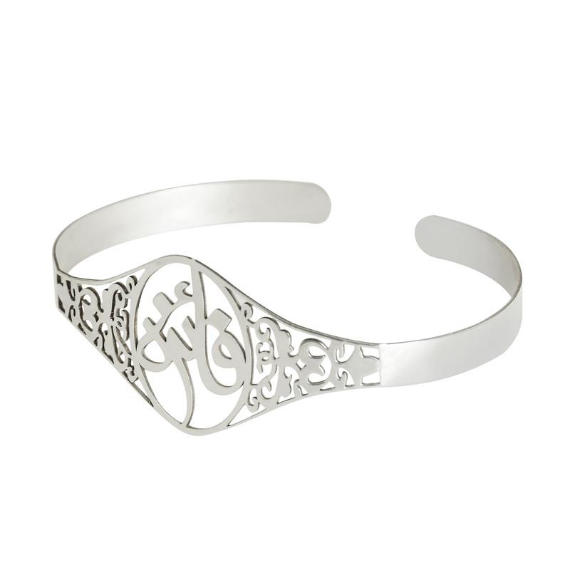 دستبند نقره زنانه ترمه 1 طرح فائزه کد Da1