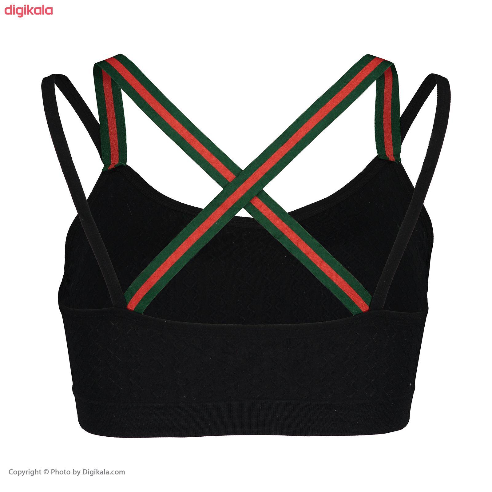 نیم تنه ورزشی زنانه کد G01 رنگ مشکی main 1 2