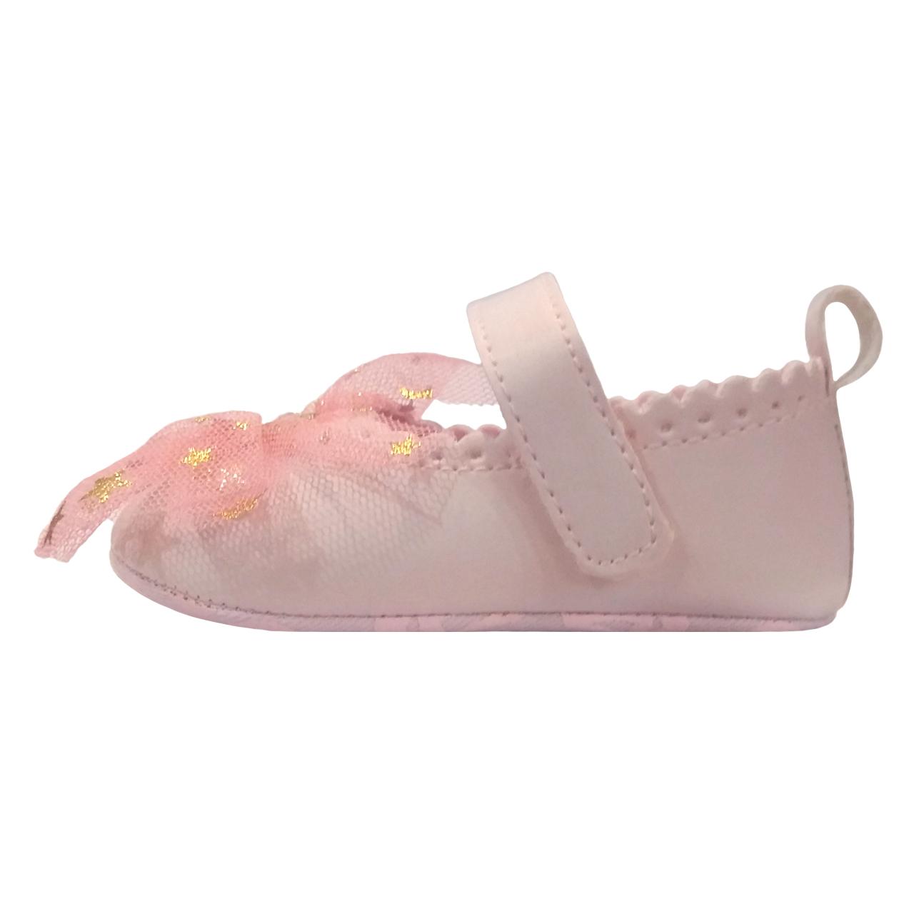 پاپوش نوزادی دخترانه طرح Heart کد M202
