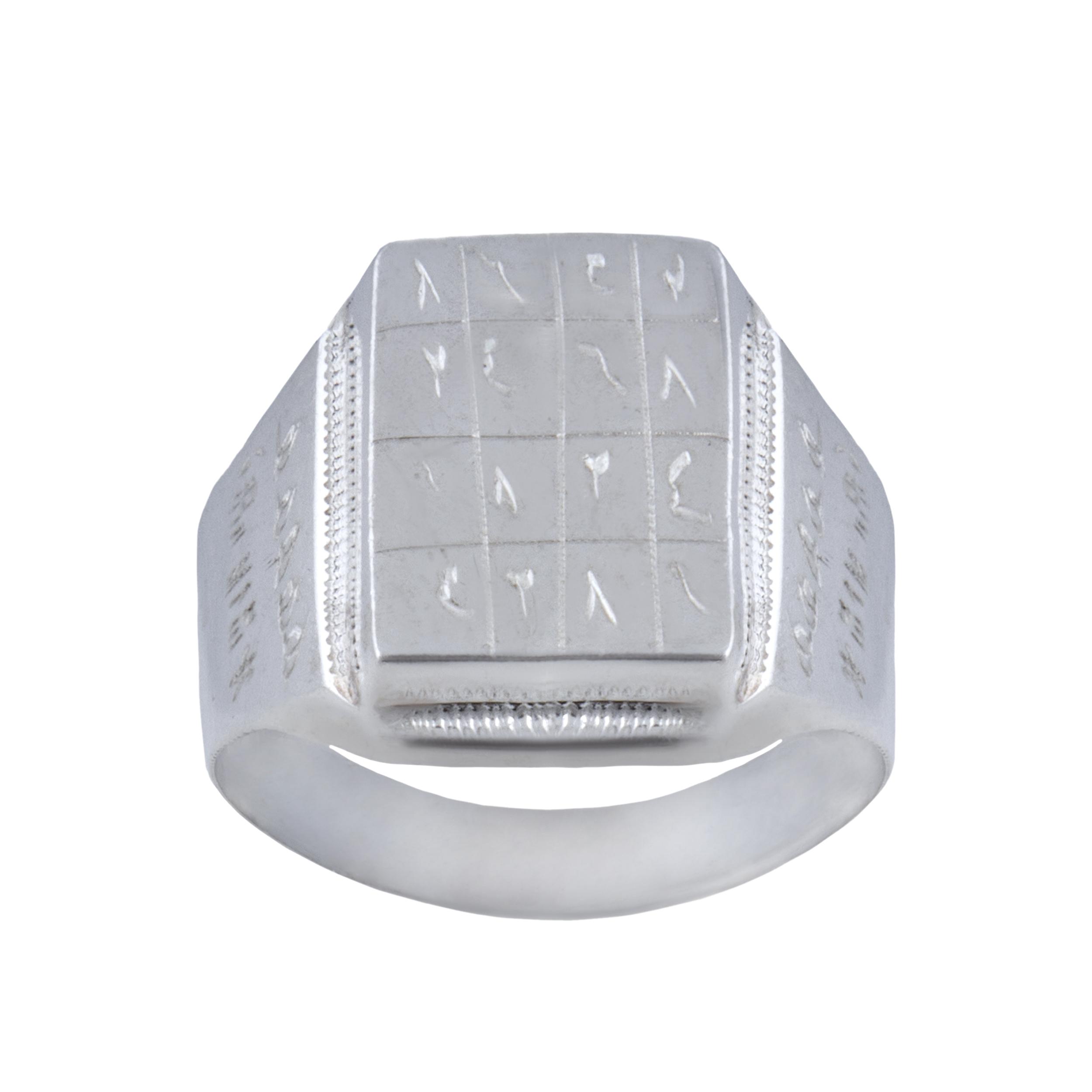 انگشتر نقره مردانه بازرگانی میلادی کد  AM_034