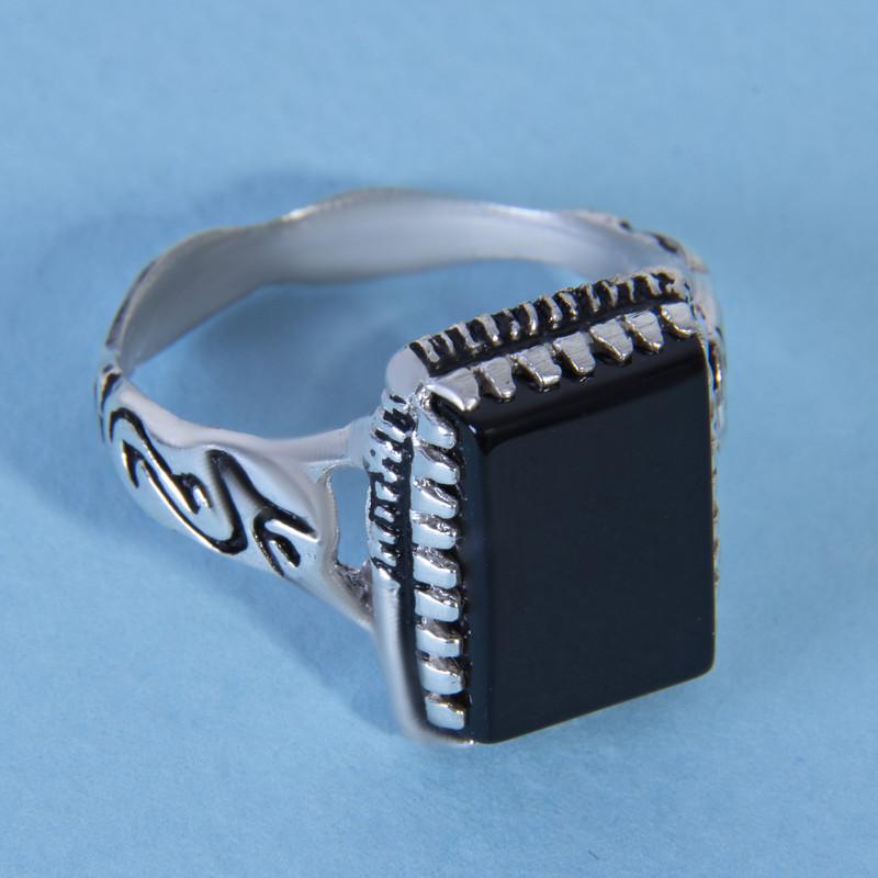 انگشتر نقره مردانه بازرگانی میلادی کد  AM_035