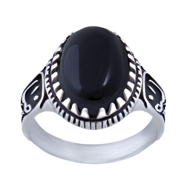 انگشتر نقره مردانه بازرگانی میلادی کد AM_039