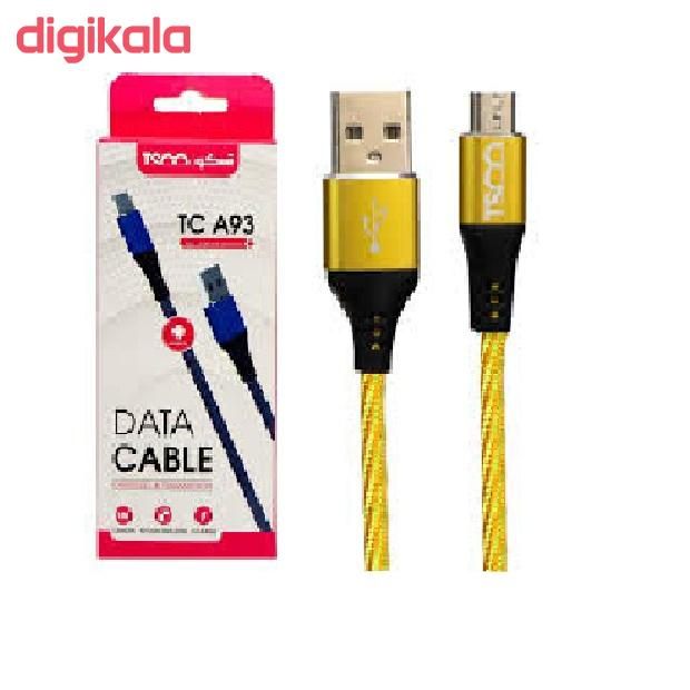 کابل تبدیل USB به microUSB تسکو مدل TC A93 طول 1 متر  main 1 2