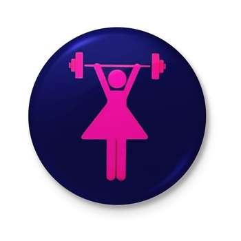 تصویر پیکسل طرح خانوم ورزشکار کد DDP237