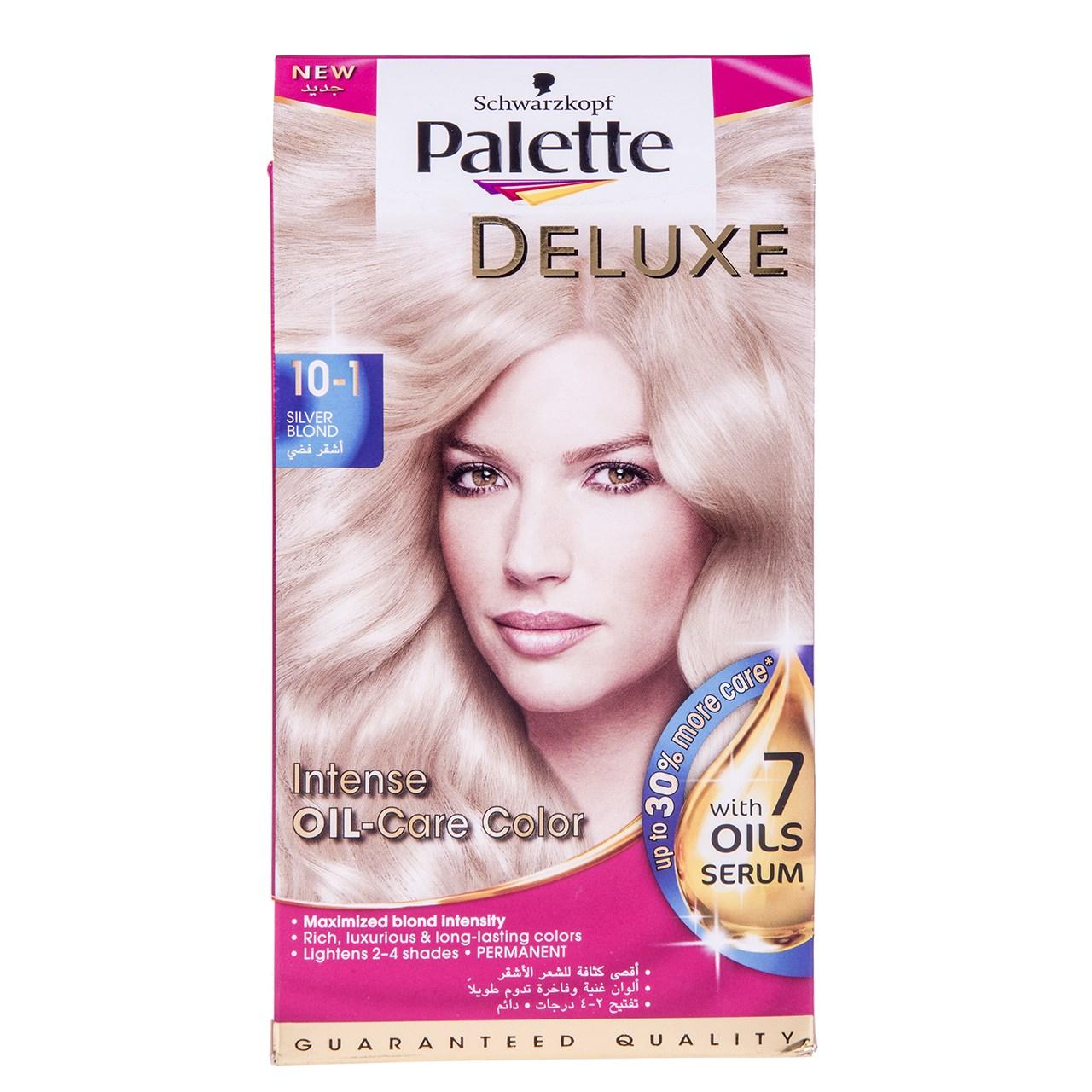 تصویر کیت رنگ مو پلت سری Deluxe مدل طلایی براق شماره 1-10