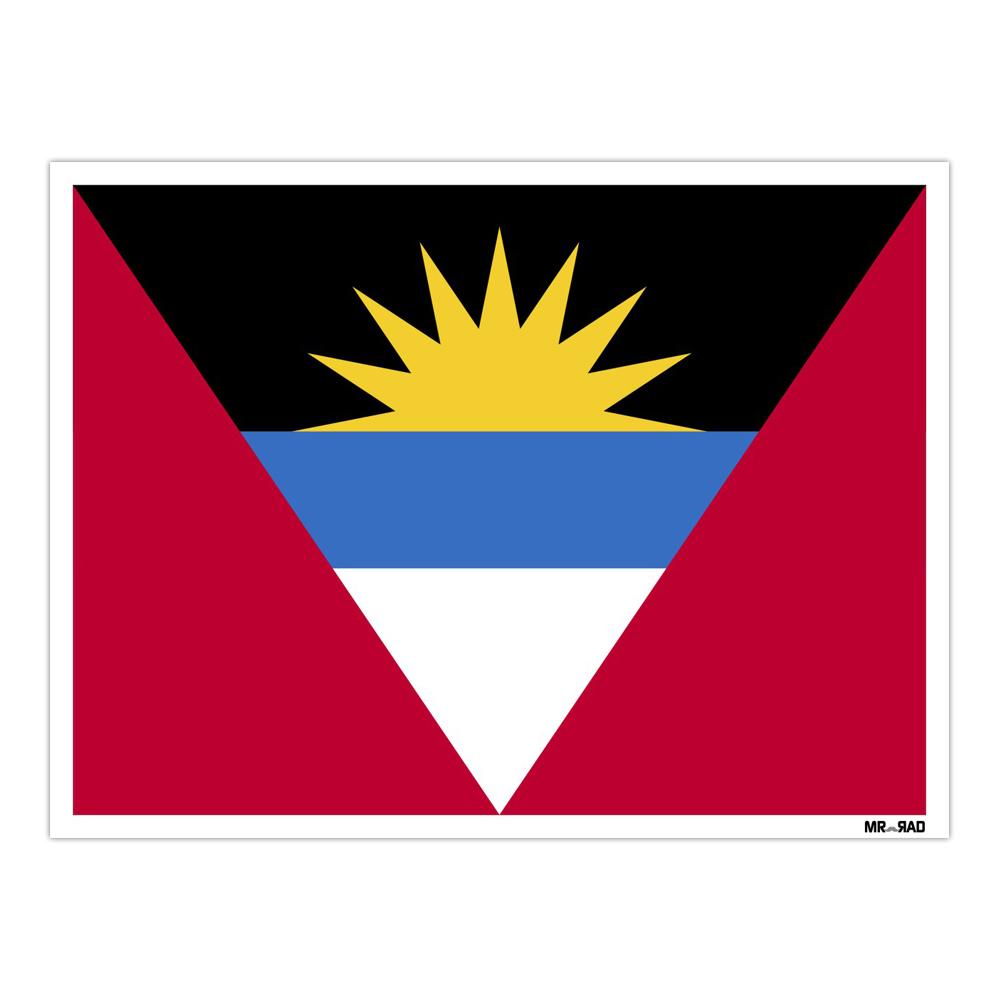 استیکر مستر راد طرح پرچم آنتیگوآوباربودا مدل HSE 015