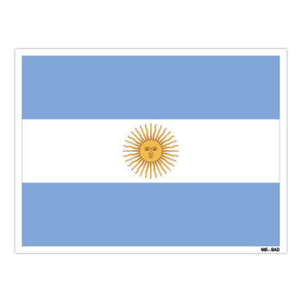 استیکر مستر راد طرح پرچم آرژانتین مدل HSE 016