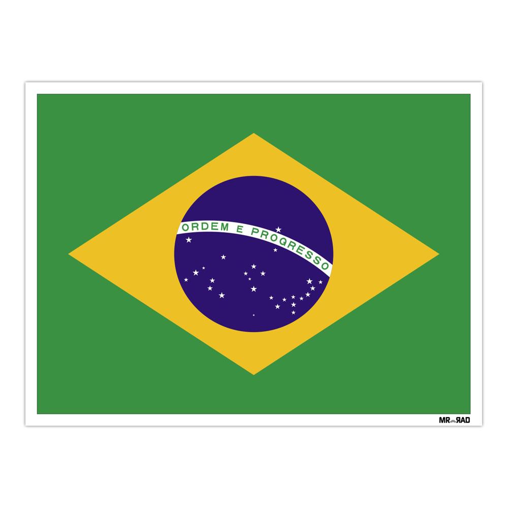 استیکر فراگراف FG طرح پرچم برزیل مدل HSE 038