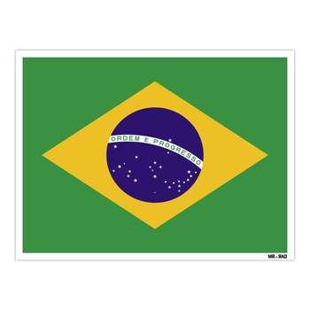 استیکر مستر راد طرح پرچم برزیل مدل HSE 038