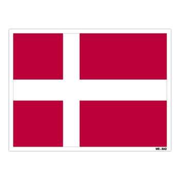 استیکر مستر راد طرح پرچم دانمارک مدل HSE 073