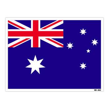 استیکر مستر راد طرح پرچم استرالیا مدل HSE 019