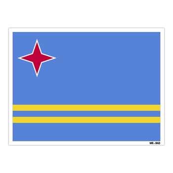 استیکر مستر راد طرح پرچم آروبا مدل HSE 018