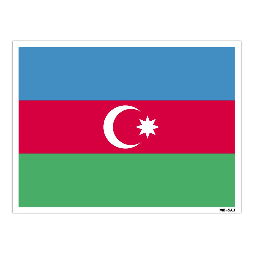 استیکر فراگراف FG طرح پرچم آذربایجان مدل HSE 021
