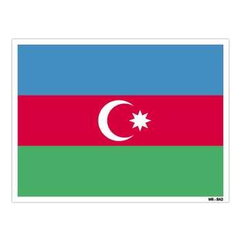 استیکر مستر راد طرح پرچم آذربایجان مدل HSE 021