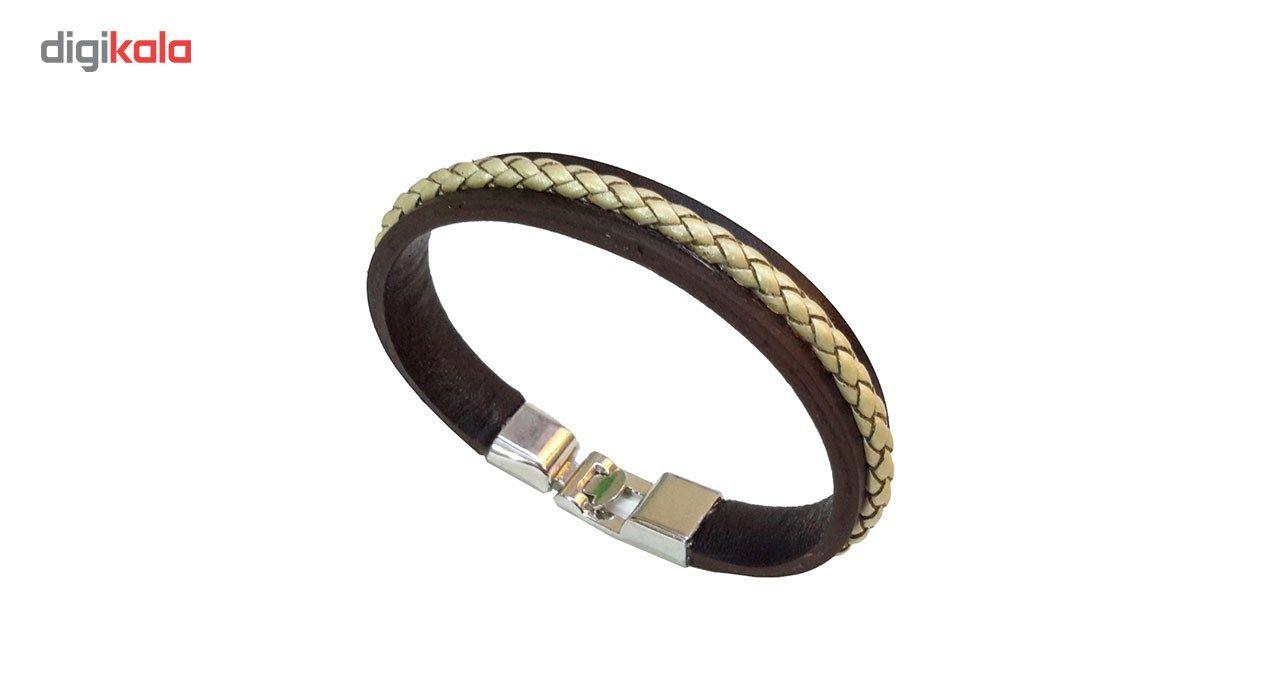 دستبند چرمی مانی چرم مدل BL-159 سایز L -  - 3