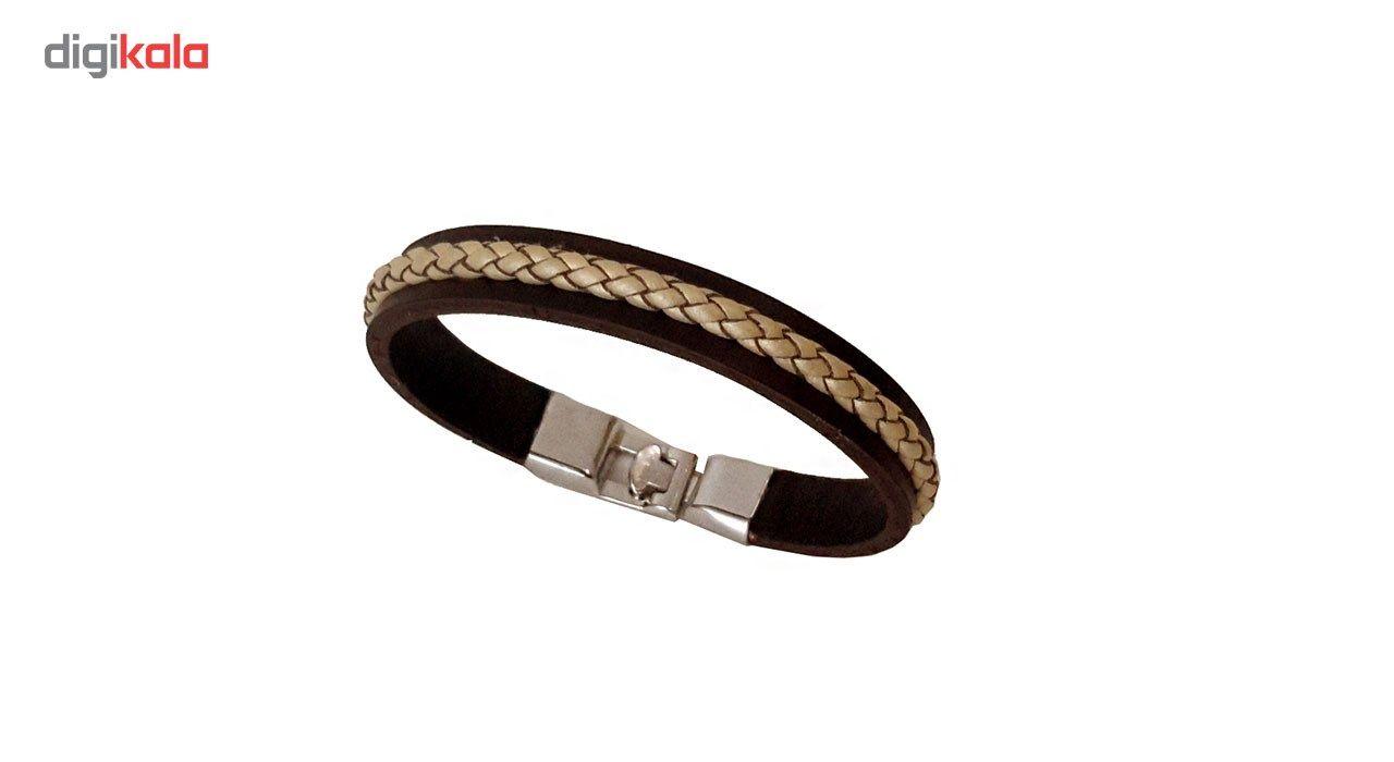 دستبند چرمی مانی چرم مدل BL-159 سایز L -  - 4