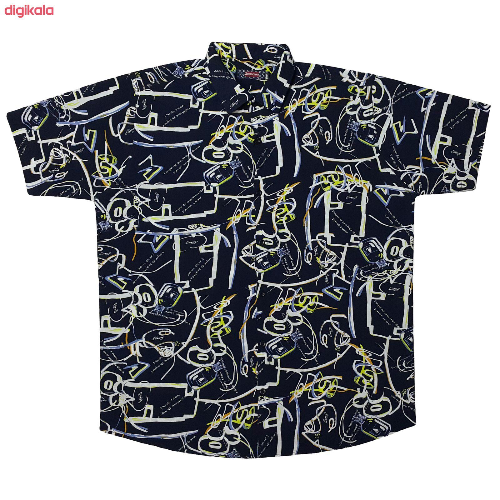 پیراهن آستین کوتاه مردانه کدP20